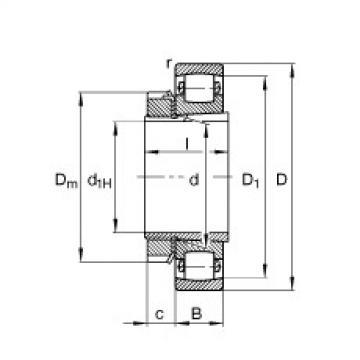 підшипник 20210-K-TVP-C3 + H210 FAG