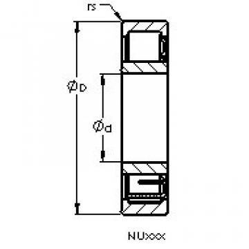 підшипник NU2208 E AST