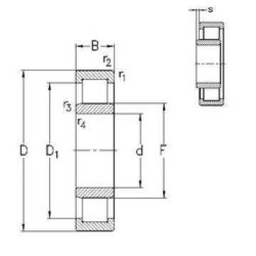 підшипник NU2232-E-MPA NKE